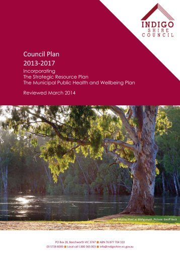 Council Plan 2013-2017 - Indigo Shire Council