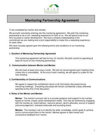 mentor relationship agreement