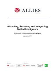 Attracting, Retaining and Integrating Skilled ... - Allies Canada