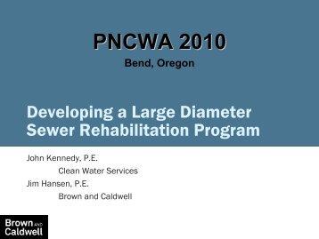 Developing a Large-Diameter Sewer - pncwa