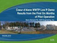 Coeur d'Alene WWTP Low P Demo - pncwa