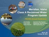 Meridian, Idaho Class A Reclaimed Water Program Update - pncwa