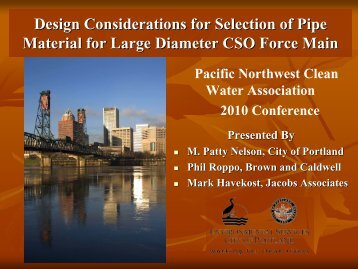 Design Considerations for Selection of - pncwa