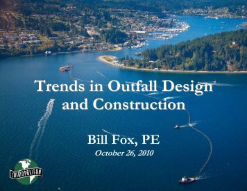 Trends in Outfall Design and Construction - pncwa