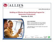 Building an Effective Group Mentoring Program for ... - Allies Canada