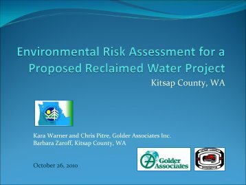 Environmental Risk Assessment for a Proposed - pncwa