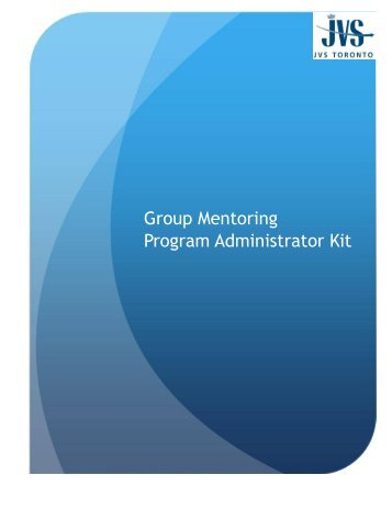 Group Mentoring Program Administrator Kit - Allies Canada