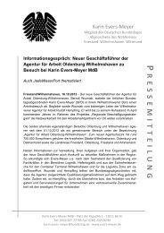 PRESSEMITTEILUNG VOM 16.10.2012: Informationsgespräch