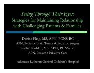 Seeing Through Their Eyes: - Advocate Health Care