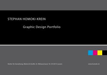 STEPHAN HOMOKI-KREIN Graphic Design Portfolio