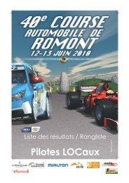 Pilotes LOCaux - Course automobile de romont