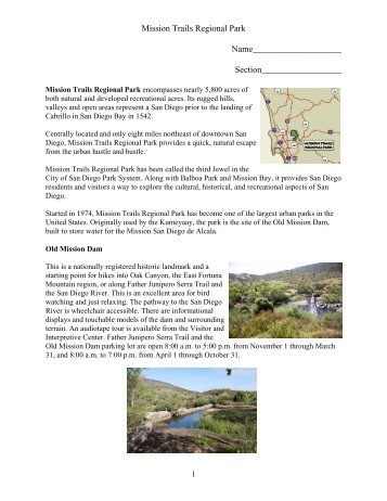 Mission Trails Regional Park - San Diego Mesa College