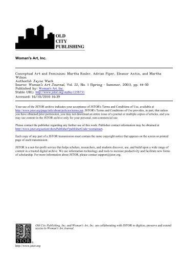 Conceptual Art and Feminism - San Diego Mesa College