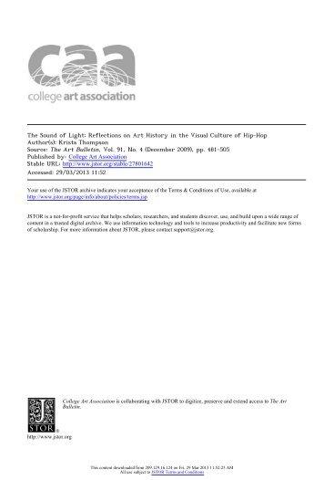 The Sound of Light - San Diego Mesa College