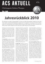 März 2011 - ACS Thurgau