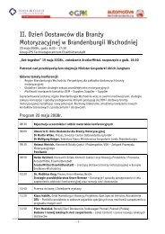 II Dzien dostawcow dla branzy motoryzacyjnej ... - zuliefertag.de