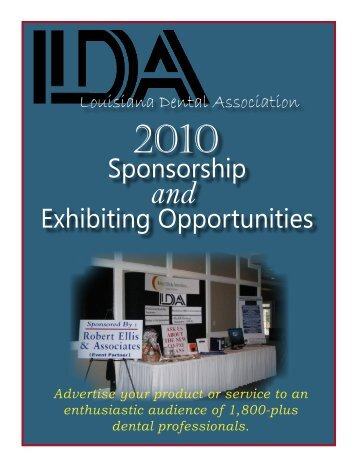 Sponsorship booklet 2010.indd - Louisiana Dental Association
