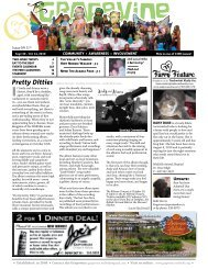WHaT'S HaPPening FRoM SePT 30 - oCT 14, 2010 - The Grapevine