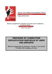 Bilan des engagements de YOKOHAMA - Ecpat France