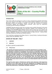 State of the Art – Country Profile ITALY - CABERNET
