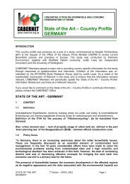 State of the Art – Country Profile GERMANY - CABERNET