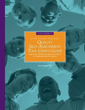 Quality Self-Assessment Tool User's Guide - The Power of Discovery
