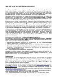 Persönlicher Atomausstieg - Akoplan Institut für soziale und ...