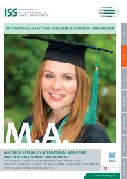 ma - ISS International Business School of Service Management