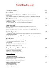 Sheraton Classics Restaurant (PDF) - Restaurants Hannover