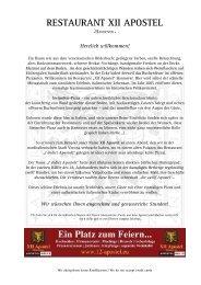 Speiskarte (PDF) - Restaurants Hannover