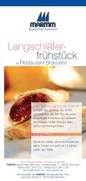 Flyer Langschläferfrühstück-Brunchbuffet (PDF) - Restaurants ...