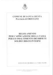 regolamento applicazione tarsu - Comune di Santa Giusta