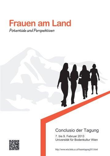 CONCLUSIO Tagung Frauen am Land.pdf - Boku