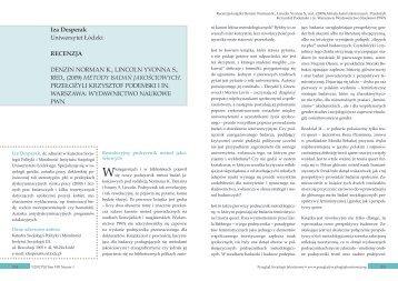 Denzin Norman K., Lincoln - Qualitative Sociology Review