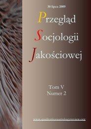 Pobierz wydanie - Qualitative Sociology Review