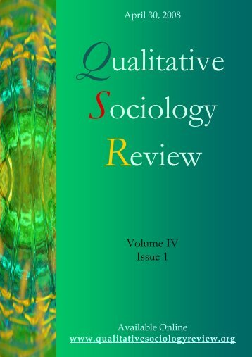 volume IV is 1 - Qualitative Sociology Review