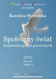 Społeczny świat hodowców gołębi pocztowych - Qualitative ...