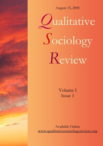 Download this issue - Qualitative Sociology Review