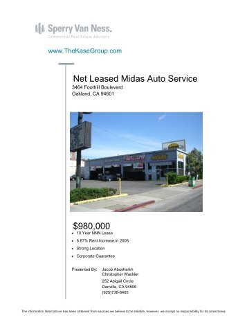 Net Leased Midas Auto Service $980,000 - The Kase Group