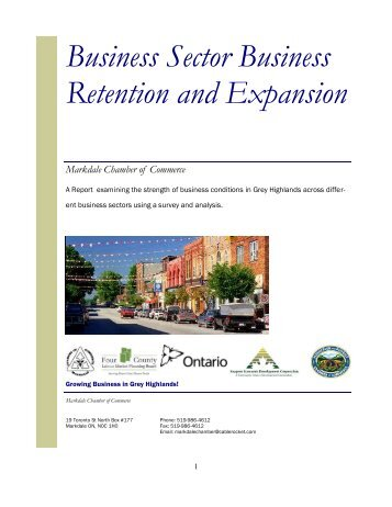 Chamber BR&E Report - Grey Highlands Chamber of Commerce