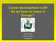 Career development in EP. Do we have - European Society of ...