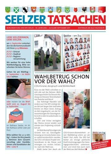 SEELZER TATSACHEN | September 2011 - SPD-Ortsverein Seelze