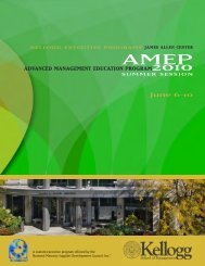 ADVANCED MANAGEMENT EDUCATION PROGRAM2010 June 6-10