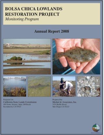 2008 Annual Monitoring Report (pdf 10.9MB) - Bolsa Chica ...