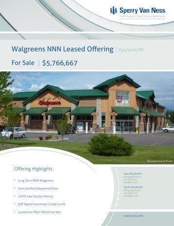 Walgreens NNN Leased Offering   Ypsilanti,MI - The Kase Group