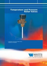 Temperature and Pressure Relief Valves