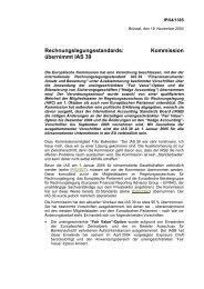 Kommission übernimmt IAS 39 - IFRS-Portal