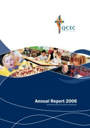 Annual Report 2006 - Queensland Catholic Education Commission