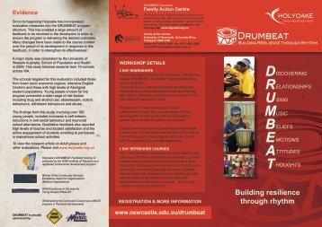 2012 DRUMBEAT Tour info and registration.pdf - Queensland ...