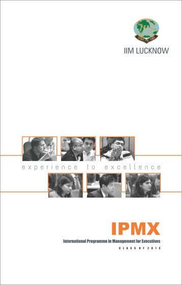 IPMX Placement Brochure - Indian Institute of Management, Lucknow